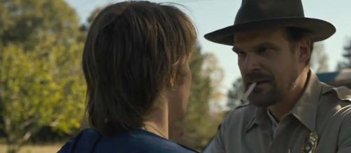 "There is way too much smoking going on in the Netflix Original series ""Stranger Things."" [Image DCHE/YouTube]"