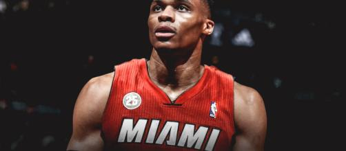 Russell Westbrook to the Miami Heat. Credit: VNDSGN / Jersey Swap (Photoshop)