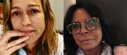 Luana Piovani e Gretchen já sofreram agressão física. (Reprodução/ Instagram/ @luapio/ @mariagretchen)