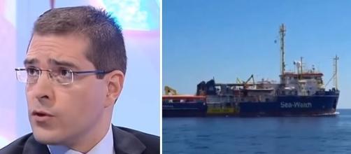 Daniele Capezzone si scaglia contro i deputati a bordo della Sea Watch (Ph. Youtube)