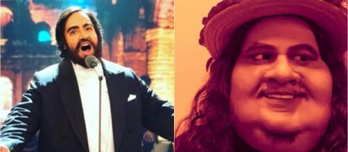 Helga Nemeczyk e Hugo Bonemer caracterizados para o 'Show dos Famosos'. (Reprodução/Instagram/@nemeczyk/@hugobonemer)
