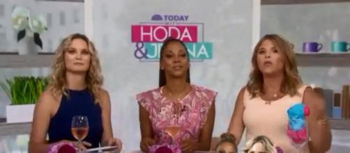 """Jenna Bush Hager gets co-hosting help from Jennifer Nettles (L) and Holly Robinson Peete on """"Today."""" [Image source; TODAY-YouTube]"""