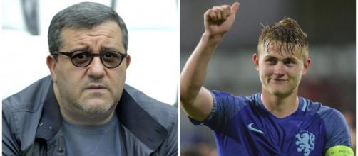Mino Raiola e Matthijs de Ligt (Foto: calcioefinanza.it; agentianonimi.com)