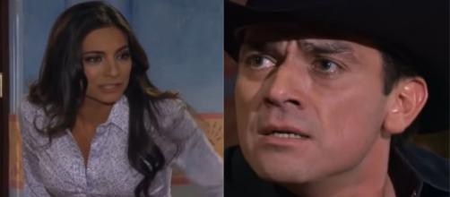 Ao escutar conversa, Consuelo descobre que Ana Paula traiu Rogério em 'A Que Não Podia Amar'. (Reprodução/Televisa)