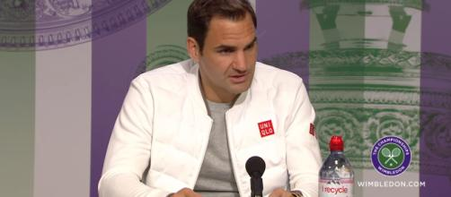 Federer Answers to press after his 4th round. [Image Source: Wimbledon / YouTube]