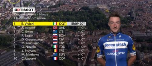 L'ordine d'arrivo della quarta tappa del Tour de France