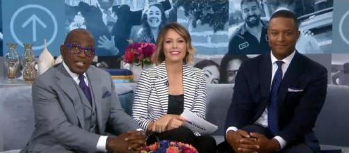 'Today' third hour co-hosts Al Roker (L) and Dylan Dreyer squabble over proper texting hours. [Image source: TODAY-YouTube]