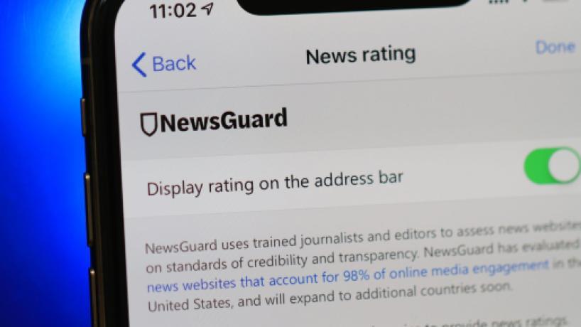 NewsGuard awarded Blasting News the Green Shield