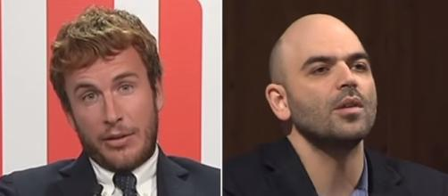 Diego Fusaro attacca Roberto Saviano (Ph. Youtube).