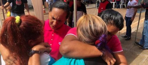 Voluntárias amparam familiares de detentos de Altamira (PA). (Divulgação/UNP)
