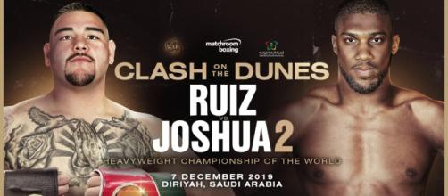 Andy Ruiz vs Anthony Joshua 2, ufficiale: rematch il 7 dicembre in Arabia Saudita