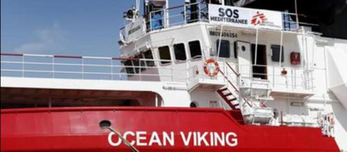 La nave soccorso Ong Ocean Viking