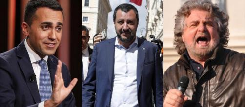 Luigi Di Maio, Matteo Salvini e Beppe Grillo