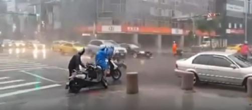 Typhoon LEKIMA Taiwan August 8, 2019. [Image source/TVMO YouTube video]