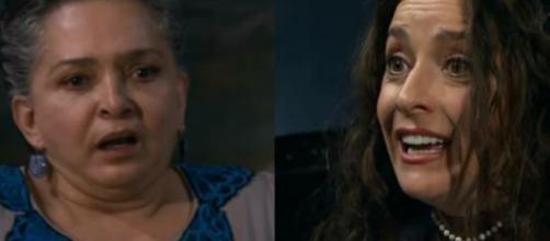 Maria e Cinthia em 'A Que Não Podia Amar'. (Reprodução/Televisa)