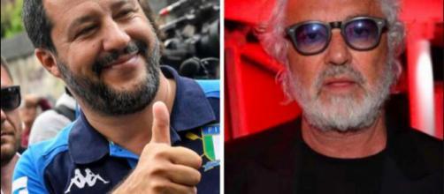 Matteo Salvini e Flavio Briatore