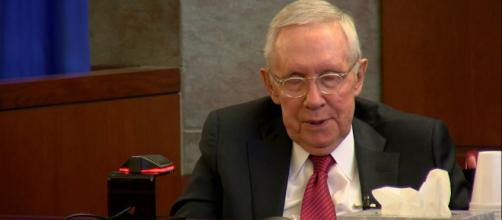 Former Senate Majority Leader Harry Reid is calling for the end of the filibuster. [Image Credit] Las Vegas Review-Journal/YouTube