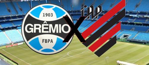 Jogo será na Arena do Grêmio. (Fotomontagem)