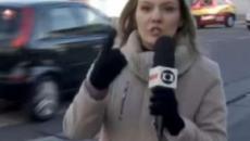 Repórter da Globo interrompe transmissão ao vivo para devolver carteira de idoso