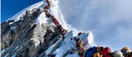Climbers point to overcrowding as reason for multiple deaths on Everest. [Image source/CBC News - The National YouTube video]
