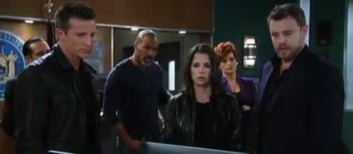 Jason, Drew, and Sam deal with Franco who believes he is Andrew Cane. [Image Source: General Hospital-YouTube]