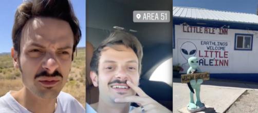 Rovazzi assieme alla fidanzata Karen presso l'Area 51 negli Usa.