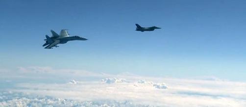 Caza español se acercó al avión del Ministro de Defensa ruso, Sergei Shoigu