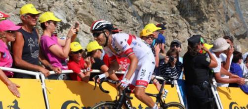 Fabio Aru impegnato al Tour de France