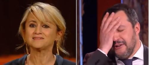 Luciana Littizzetto contestata da Salvini e dai suoi followers.