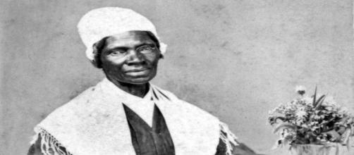 Missing from the monument are women of color like Sojourner Truth, depicted here. [image source: Wikipedia Commons/'source unknown']