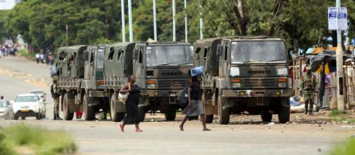 PICS: Zimbabwean military deployed to areas hit by fuel protests ... - iol.co.za via Blasting News Library
