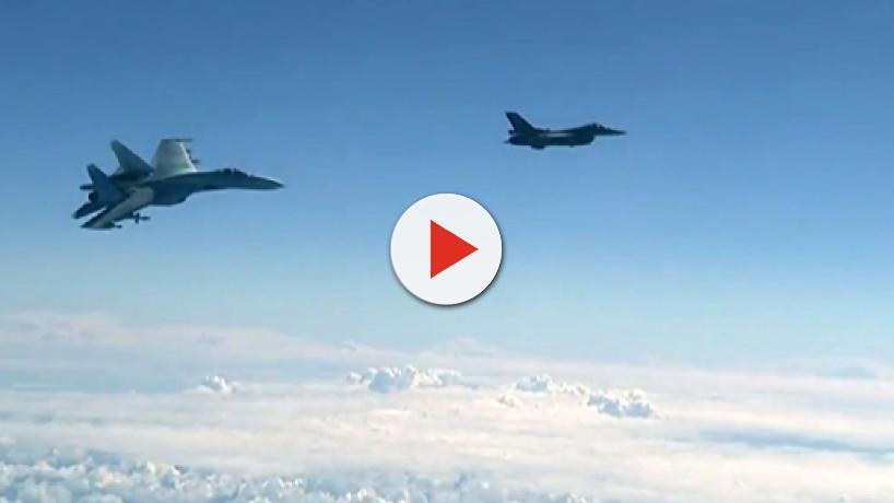 Un caza español se acercó al avión del Ministro de Defensa ruso, Sergei Shoigu