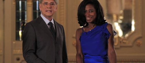 Sérgio Chapelin fez dupla com Gória Maria no Globo Repórter. (Arquivo Blasting News)