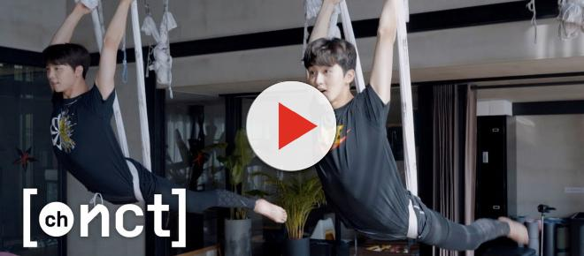 K-pop stars Johnny and Mark of NCT 127 defy gravity in aerial yoga vlog