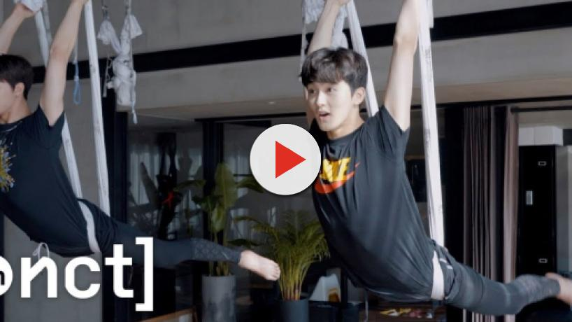 K-pop stars Johnny and Mark of NCT 127 defy gravity in aerial yoga vlog