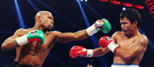 Floyd Mayweather and Manny Pacquiao are on a collision course once again – image credit: Boxmovieday/flickr