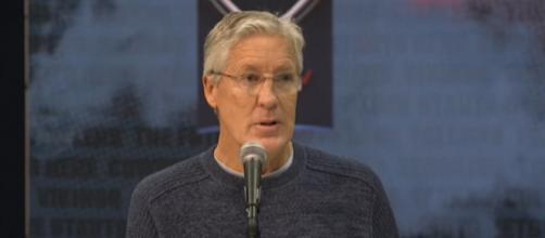 Pete Carroll has had many classic battles with the Patriots. [Image Source: Seattle Seahawks/YouTube]