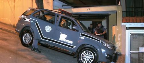 Policiais da Rota trocaram tiros com bandidos. (Reprodução/TV Globo)