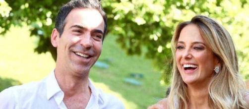 César Tralli teria marcado em suas redes sociais fornecedores que contribuíram com a festa de seu casamento com Ticiane. (Arquivo Blasting News)