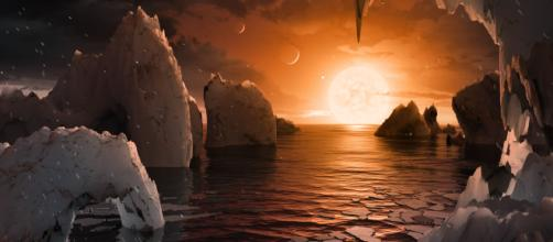 NASA has discovered 7 Earth-like planets orbiting a star just 40 ... - (image via Vox.com/Youtube)