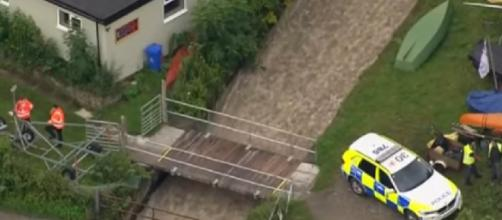 Town evacuated as dam wall collapses. [Image source/BBC News YouTube video]