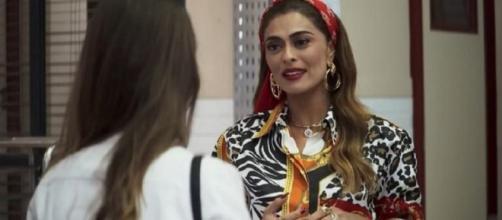 Fabiana oferece emprego a Maria da Paz. (Reprodução/ TV Globo)
