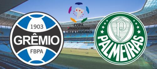 Grêmio x Palmeiras terá transmissão ao vivo na TV fechada. (Fotomontagem)