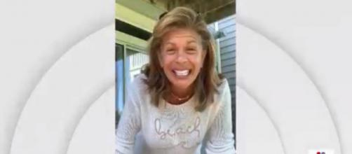 Hoda Kotb made the day for 'Today' fans by announcing her official return date from maternity leave. [Image source: TODAY-YouTube]