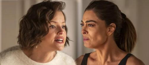 Josiane conta toda verdade e deixa a mãe espantada. (Reprodução/ TV Globo)