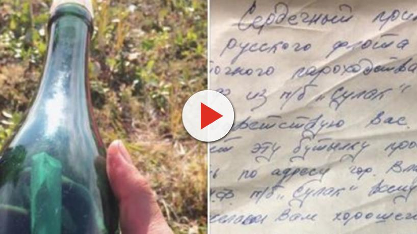 Alaska: A man from Shishmaref hunting for firewood found a 50-year-old message in a bottle