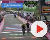 L'arrivo di Chaves e Yates sull'Etna al Giro d'Italia dello scorso anno