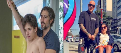 Marcos Mion e Fogaça são dois famosos com filhos portadores de necessidades especiais. (Fotomontagem)