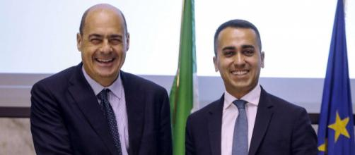 Nicola Zingaretti (PD) e Luigi Di Maio (M5S).
