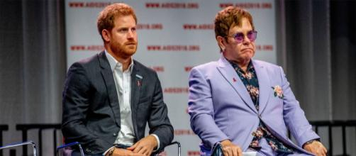 Prince Harry and Elton John Launch AIDS Initiative (Image via Entweekly/Youtube screencap)
